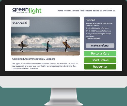 Green Light - residential page